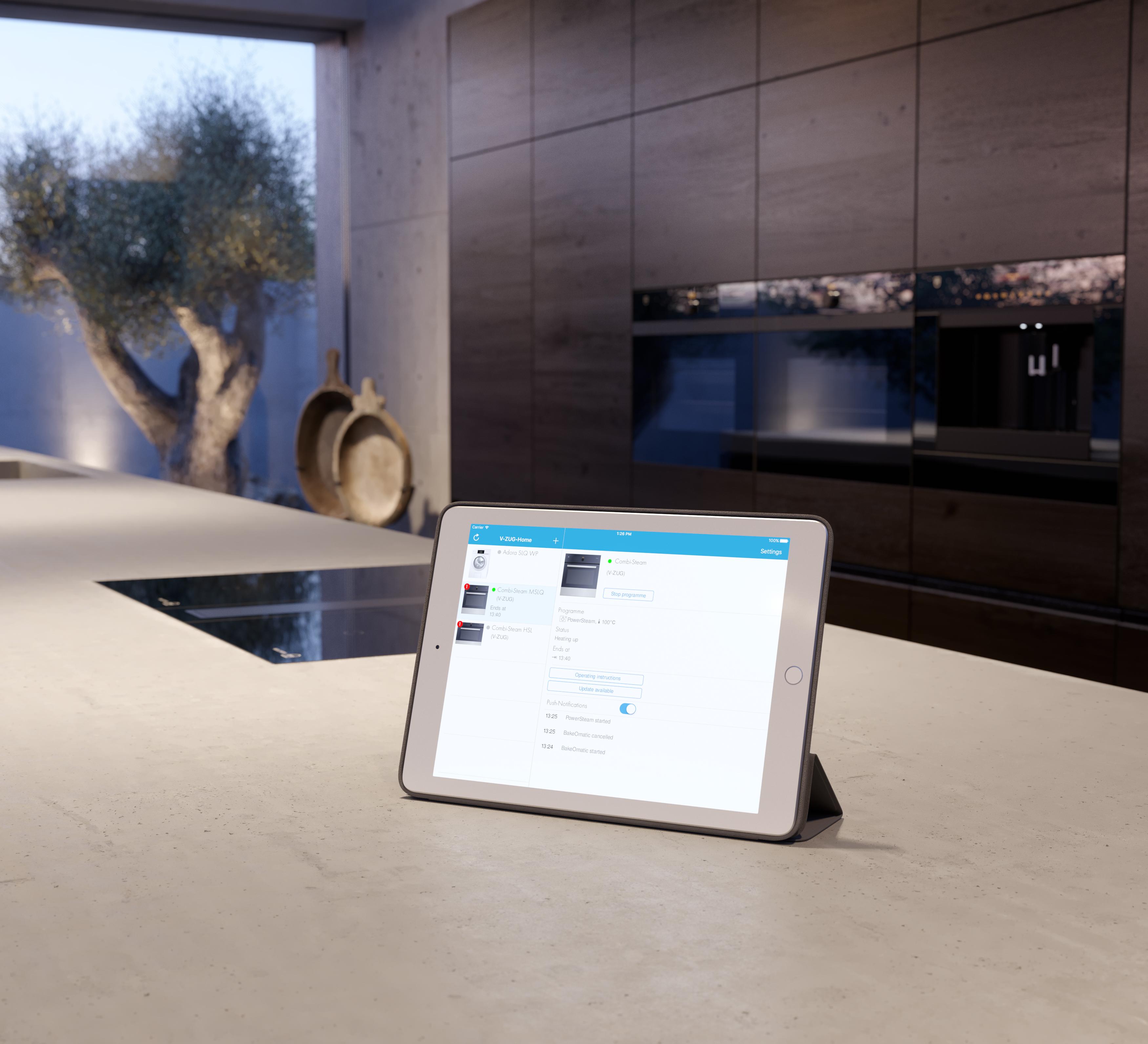 v zug home your link to the future v zug ltd switzerland. Black Bedroom Furniture Sets. Home Design Ideas