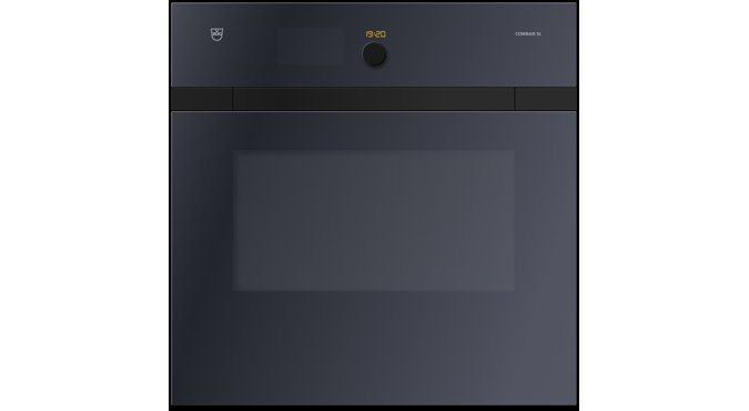 V-ZUG Oven Combair SL, Black Glass, height 60 cm, retractable handles