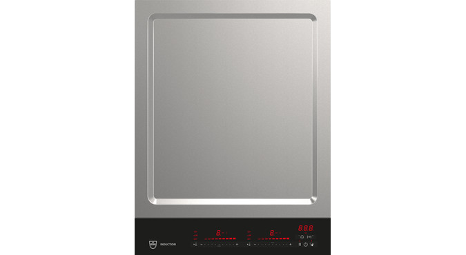 V-ZUG Hob , Standard width: 40, BlackDesign, Multi-Slider/Direktwahl, Slider control, Cooking zones: 2, DualDesign