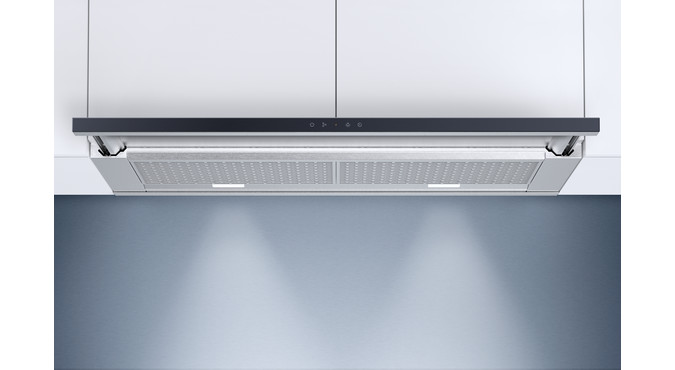 V-ZUG Range hood, AiroClearCabinet V6000, Standard width: 55.0 cm, Black glass, OptiLink, Energy efficiency rating: A+