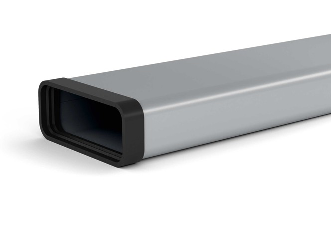 Metal air duct (W=222 mm / H=89 mm / L=500 mm)