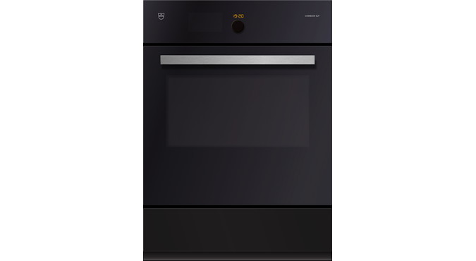 V-ZUG Combair SLP oven, width 55 cm, mirror glass design, chrome design handle, 230 or 400 V, heated system drawer