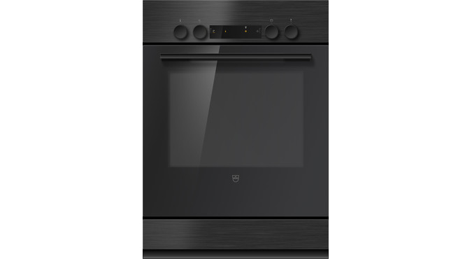 V-ZUG Cooker, Combair V400, Standard width: 55.0 cm, Standard height: 76.2 cm, Nero, dial, V-ZUG Home, Appliance drawer