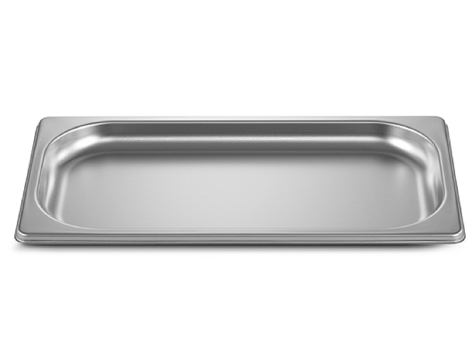 Stainless steel tray GN1/3, height 20mm, unperforated, packed