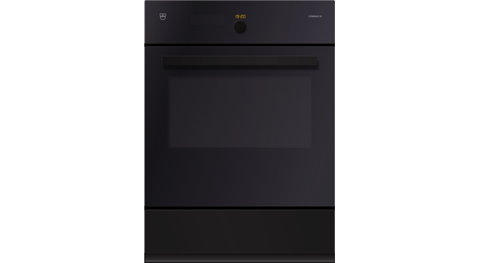 V-ZUG Oven Combair SE, Standard width: 60, Standard height: 76.2, Black glass, Handle: Black designer handle