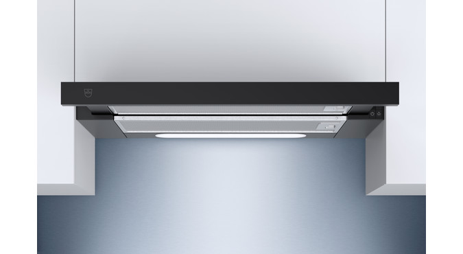V-ZUG DF-L6 built-in range hood, width 60 cm, extracted air, Nero design
