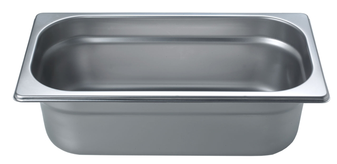 Cooking tray GN1/3, height 100mm, unperforated, packed