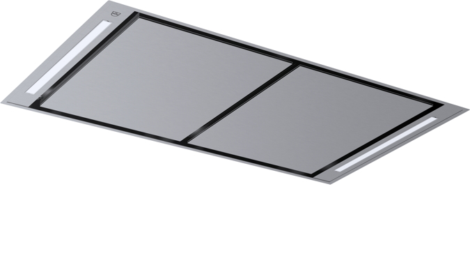 V-ZUG Hotte de plafond, largeur 120 cm, evacuation d'air, design ChromeClass