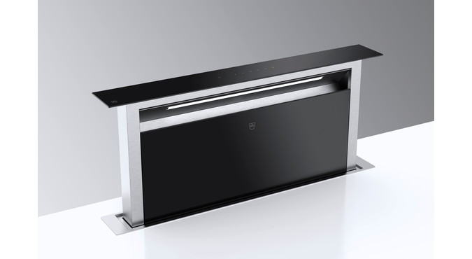 V-ZUG downdraft (DSTS9), W=90 cm, extracted air, glass design