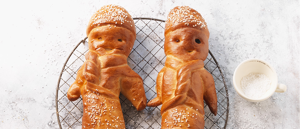 Grittibänz (bread manikin traditionally eaten on St Nicolas Day)
