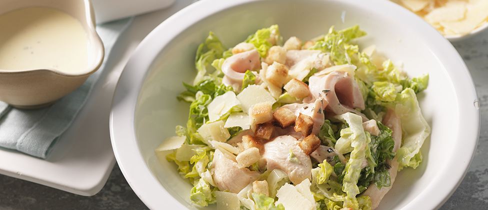 Caesar salad with corn-fed chicken