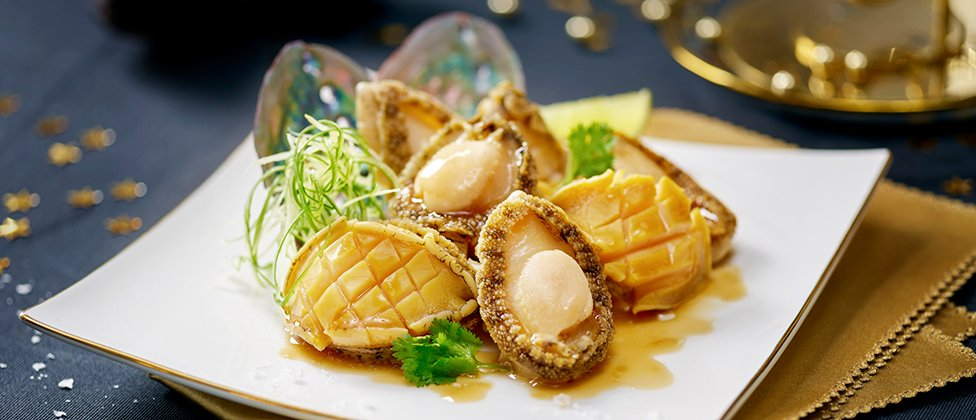 Steamed abalone with dried mandarin peel