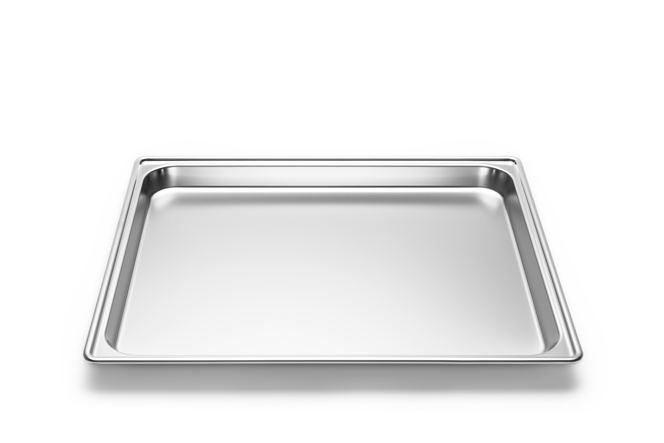 Stainless steel tray, 430 x 370 x 25mm